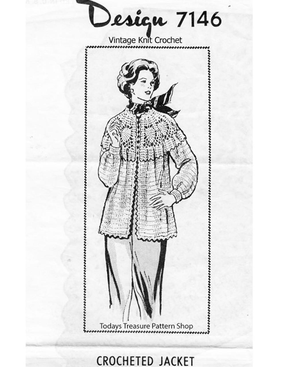 Plus Size Crochet Pineapple jacket pattern design 7146