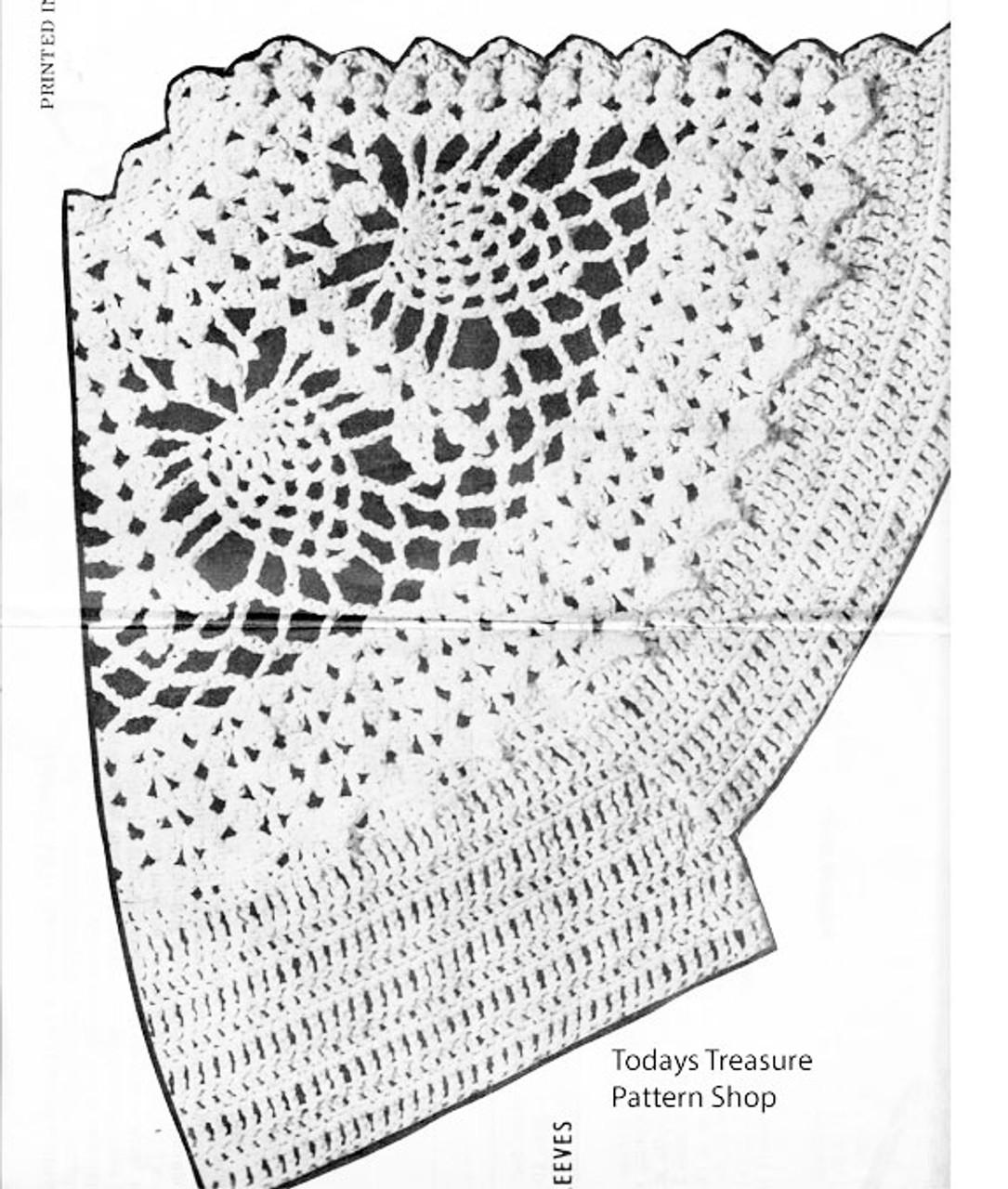 Pineapple Jacket Crochet Pattern Illustration No 7146
