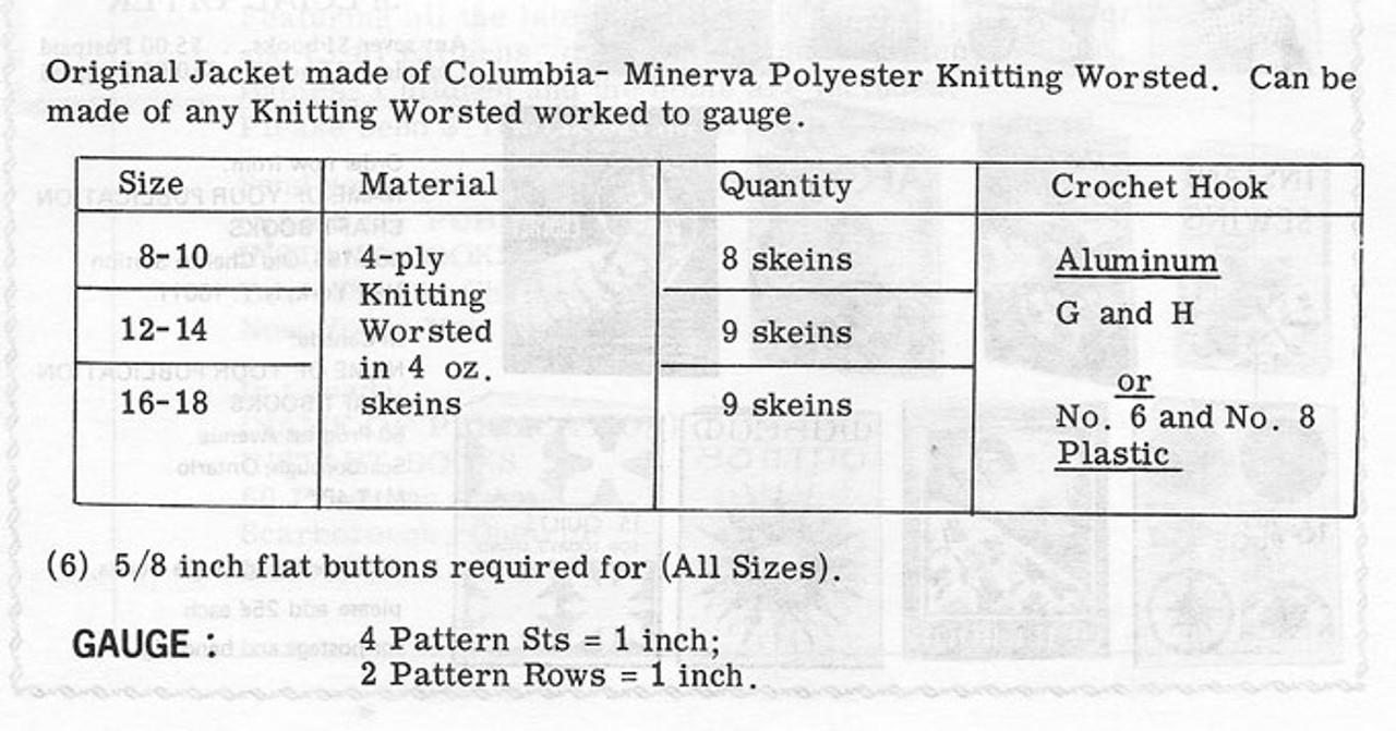 Coachman Jacket Crochet Pattern Design 7117