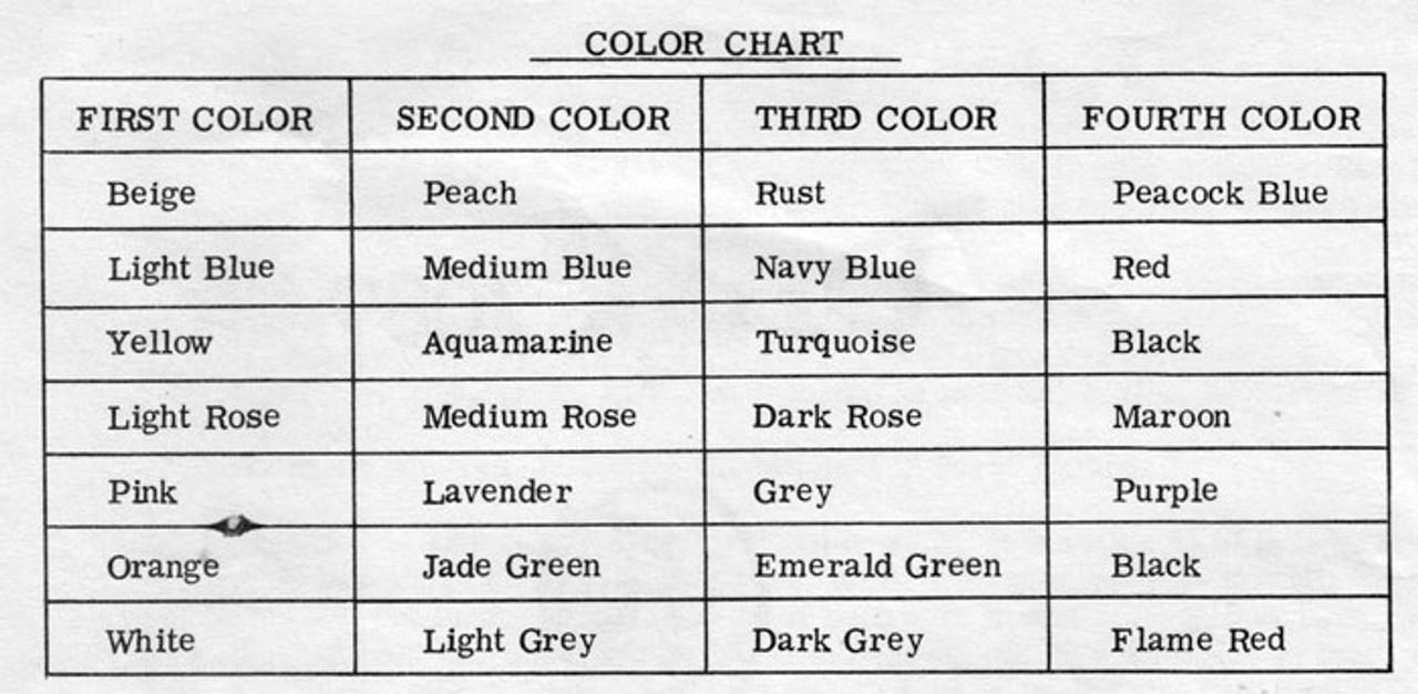 Granny Jacket Crochet Color Chart
