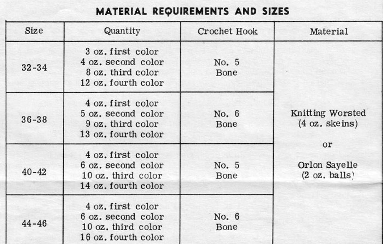 Granny Jacket Material Requirements