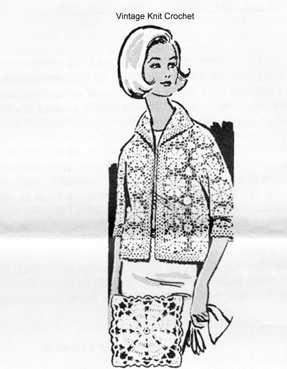 Plus Size Crochet Jacket Pattern, Mail Order 7087