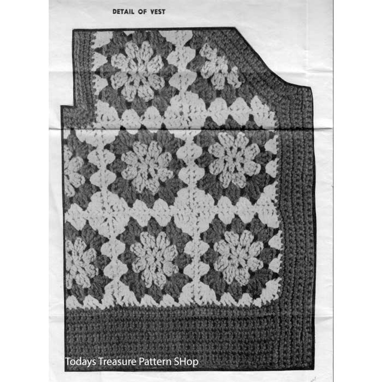 Crochet Vest of Square Blocks Pattern