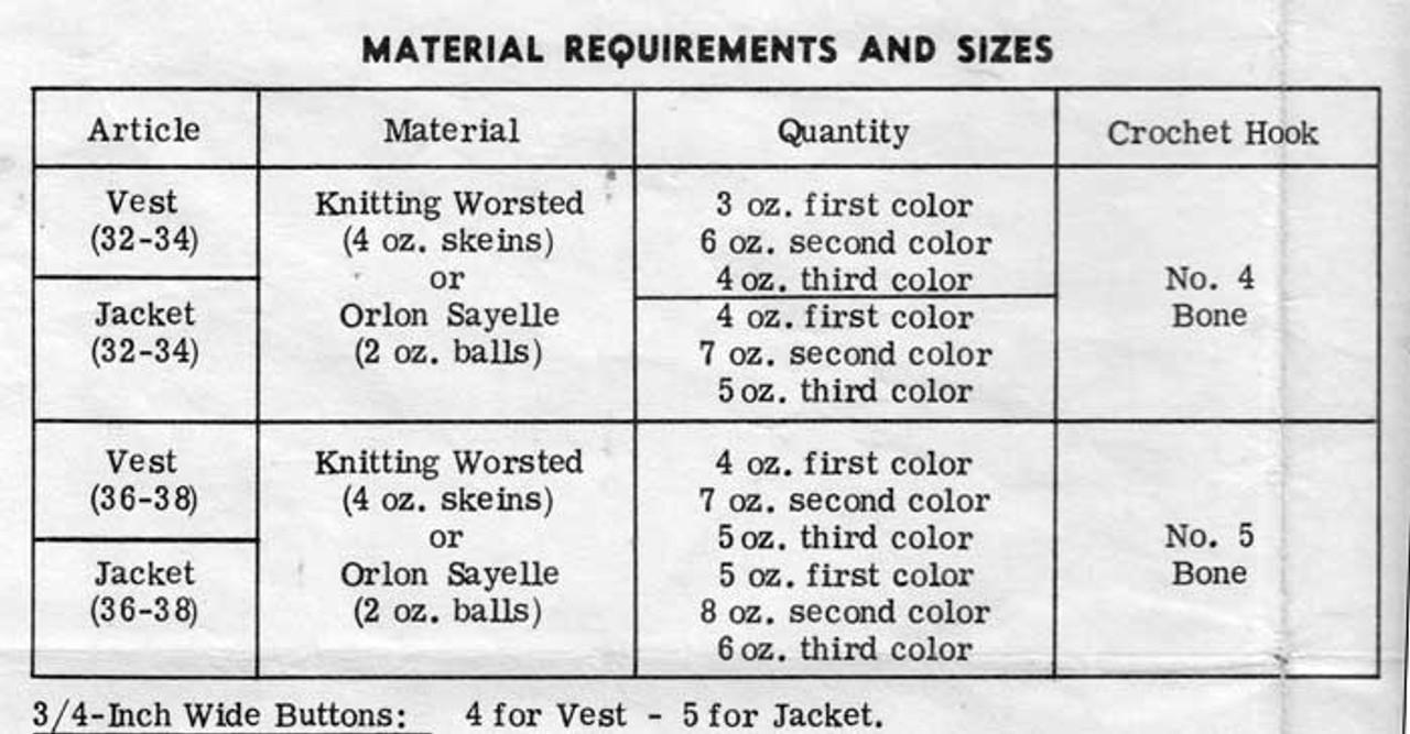Granny Vest Crochet Material Requirements