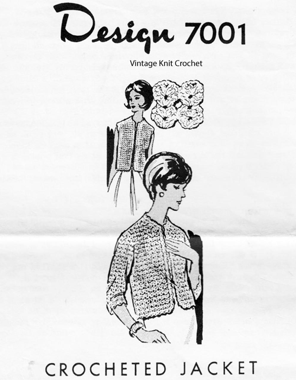 Plus Size Crochet Vest Pattern, Alice Brooks 7001