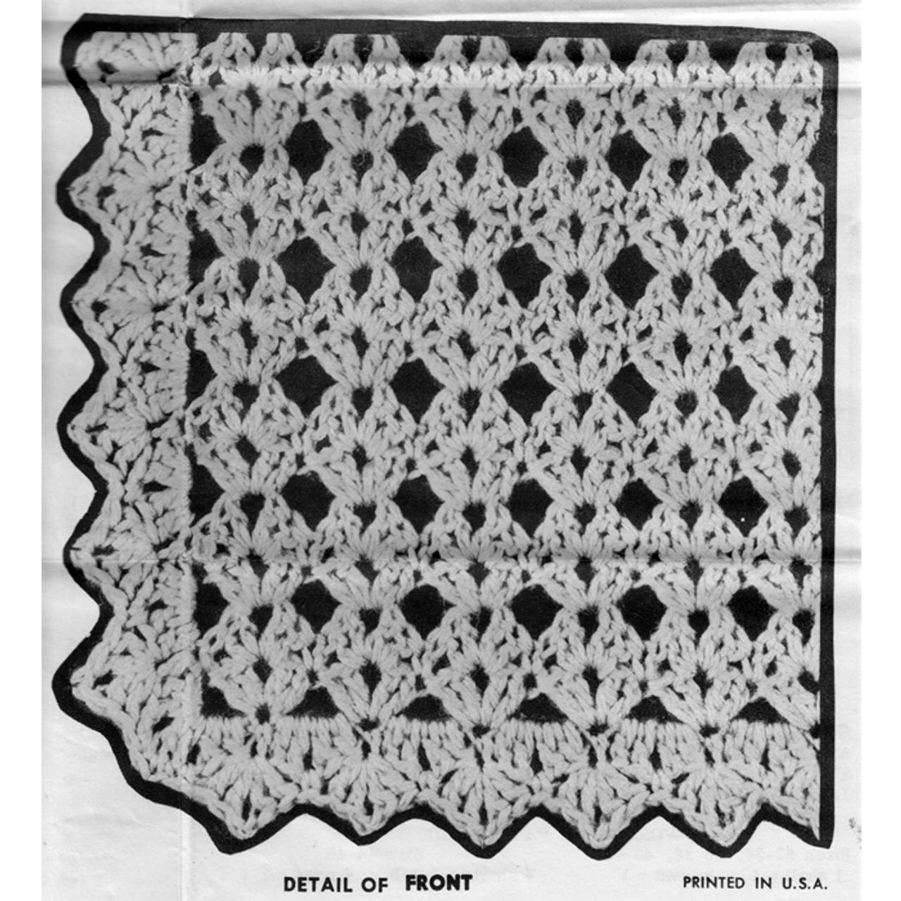 Shell Pattern Stitch Illustration for Vest
