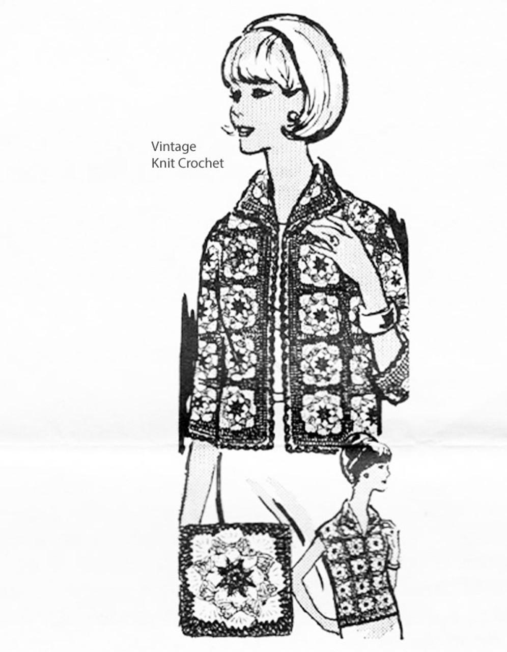 Sleeveless Crochet Granny Jacket Pattern< Laura wheeler 966