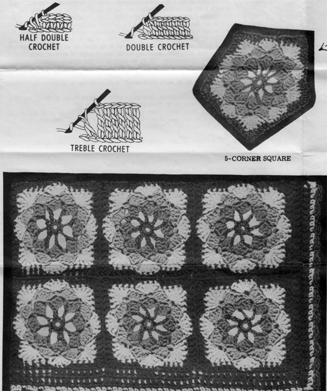 Crochet Medallions Illustration for Granny Square Jacket