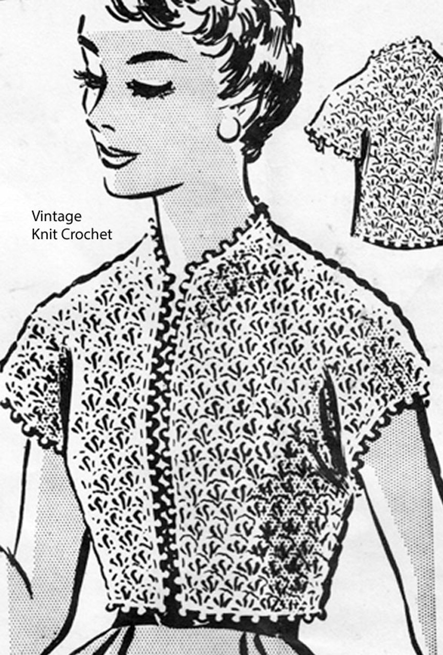 Anne Cabot 5472, Crochet Shell Stitch Top Pattern