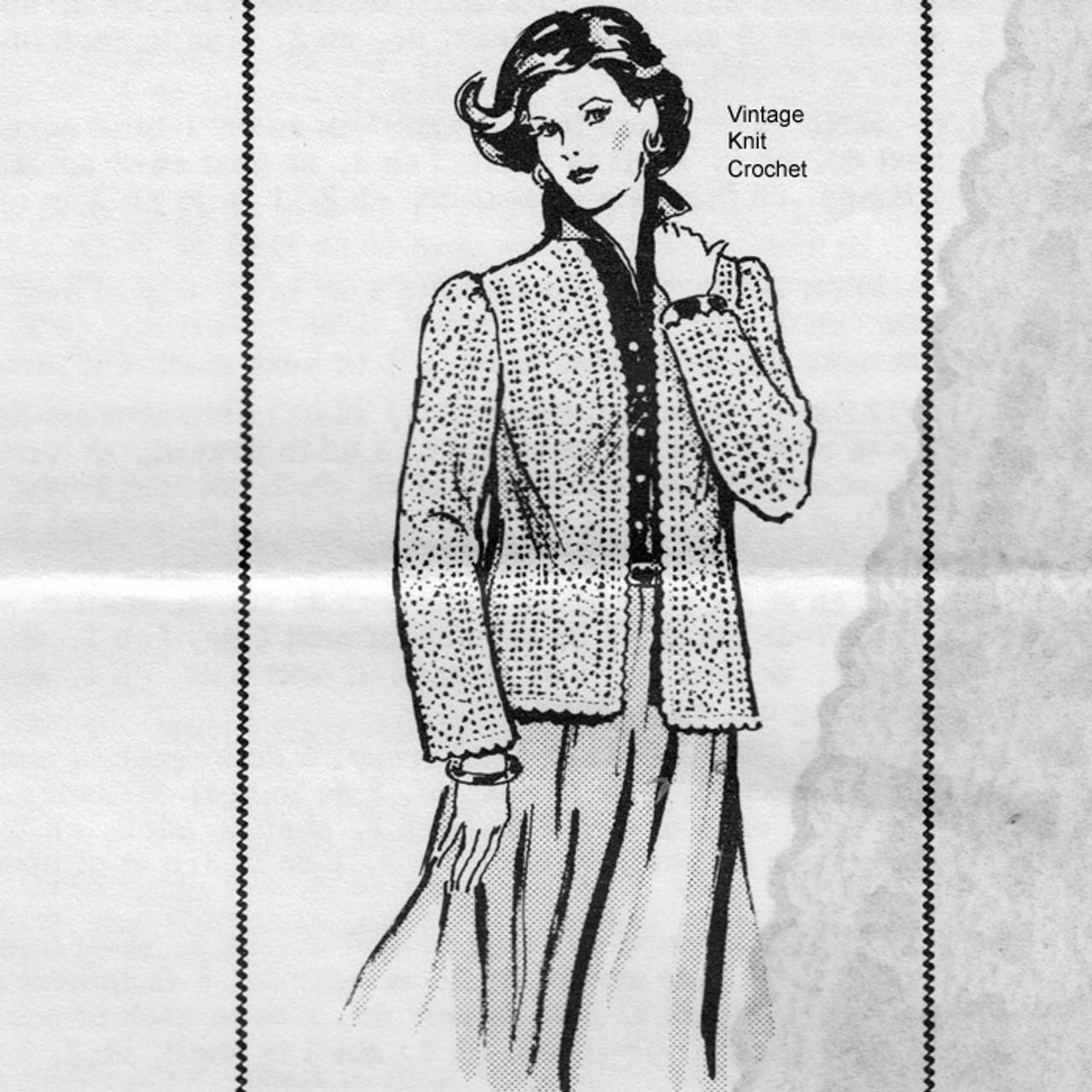 Pineapple Crochet Jacket Pattern, Laura Wheeler 819