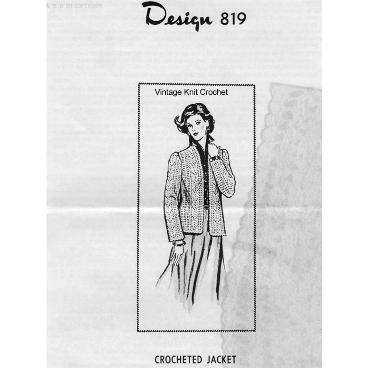 Crochet Pineapple Jacket Pattern Design 819