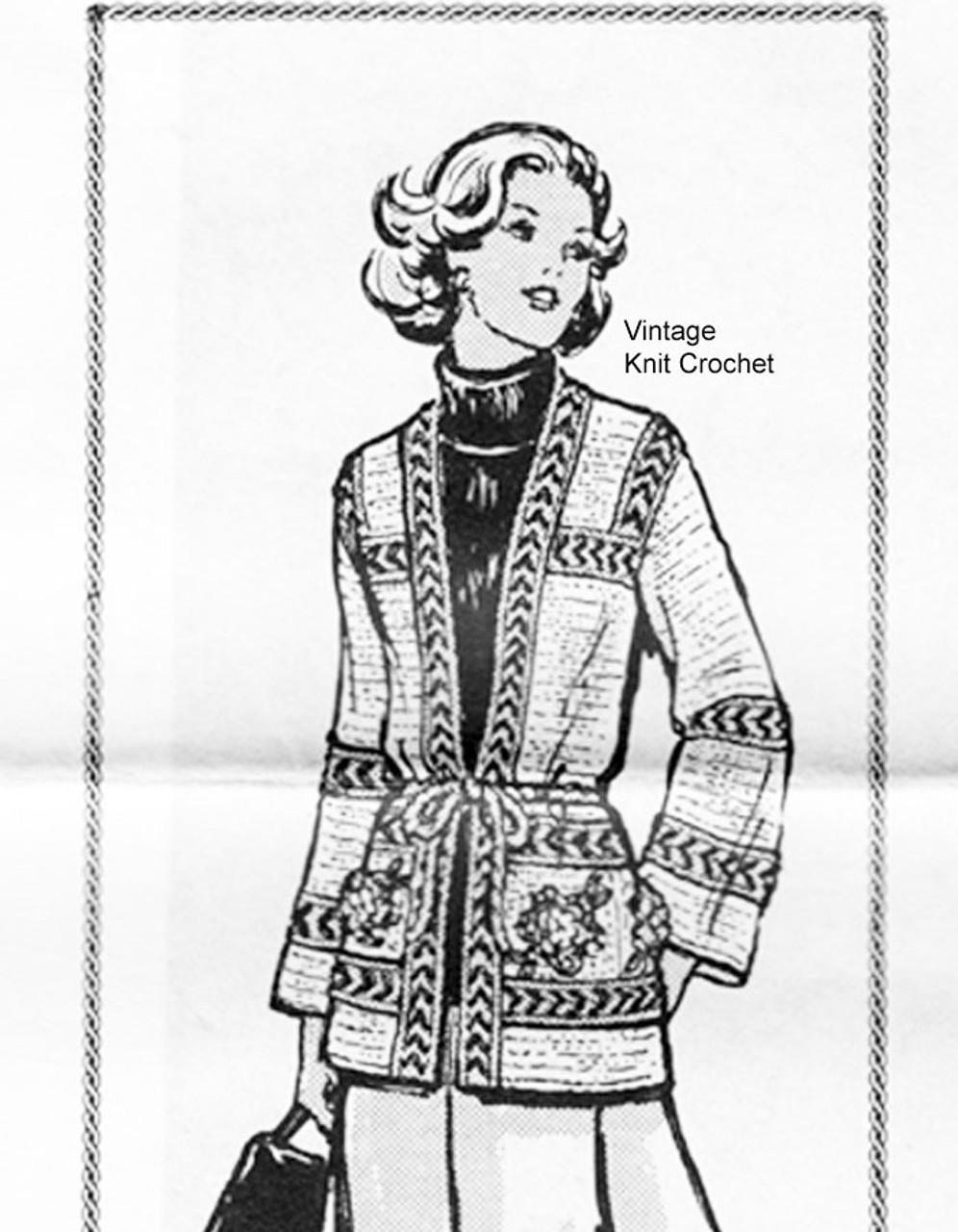 Alice Brooks Crocheted Cardigan Pattern Design 7053