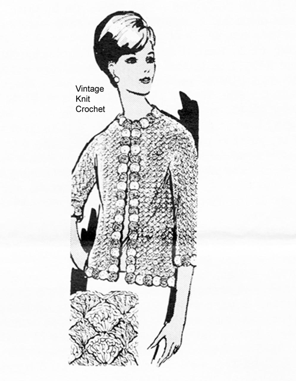 Womans Chanel Jacket Crochet Pattern Design 864