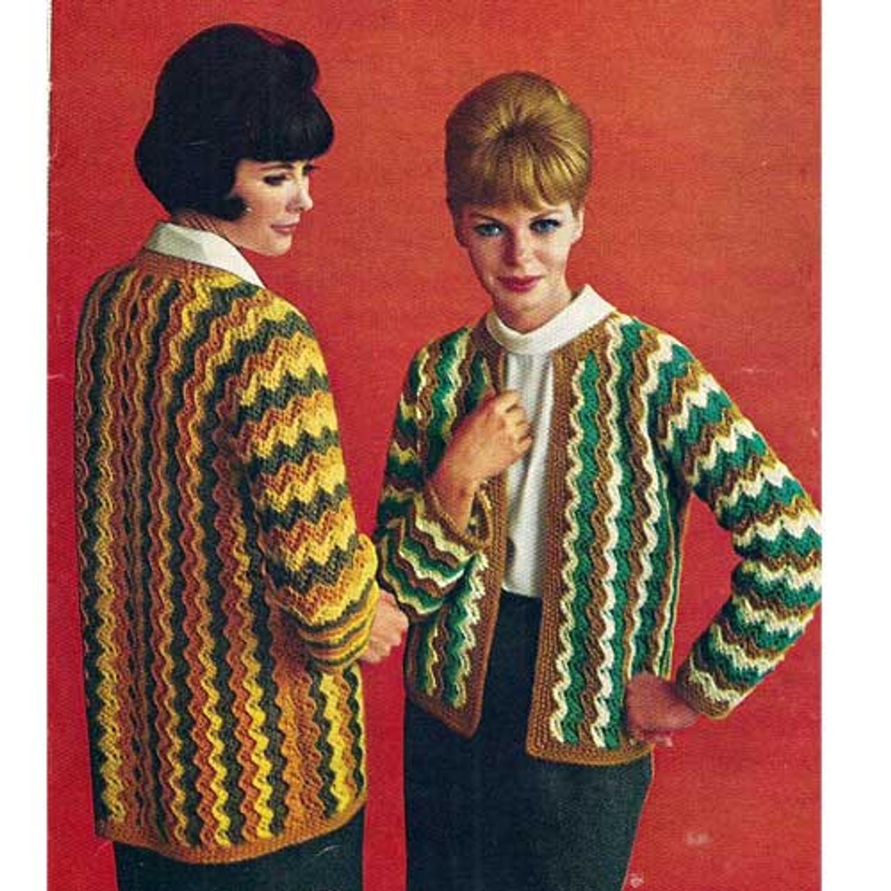 Vintage Crochet Ripple Jackets Pattern