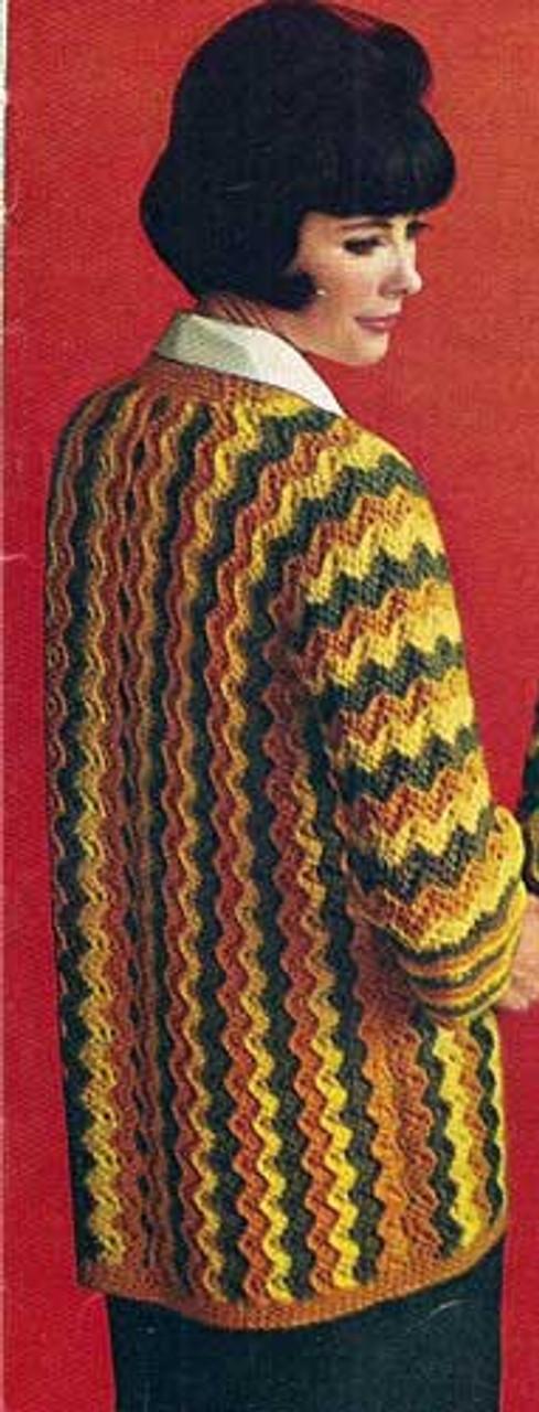 Long Ripple Crochet Cardigan Pattern