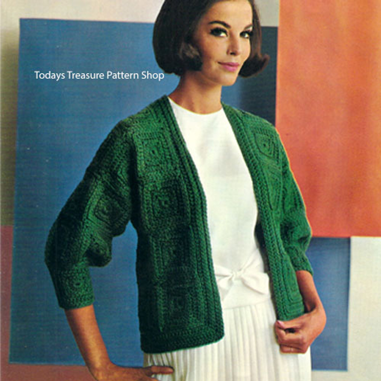 Easy Crochet Squares Cardigan Pattern