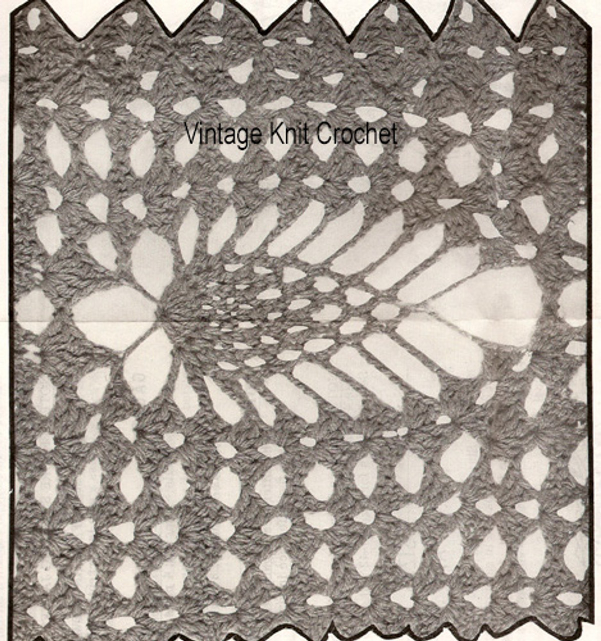 Pineapple Jacket Crochet Motif Illustration