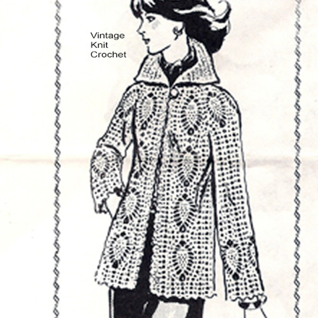 Plus Size Crochet Pineapple Jacket Pattern, Laura Wheeler 974