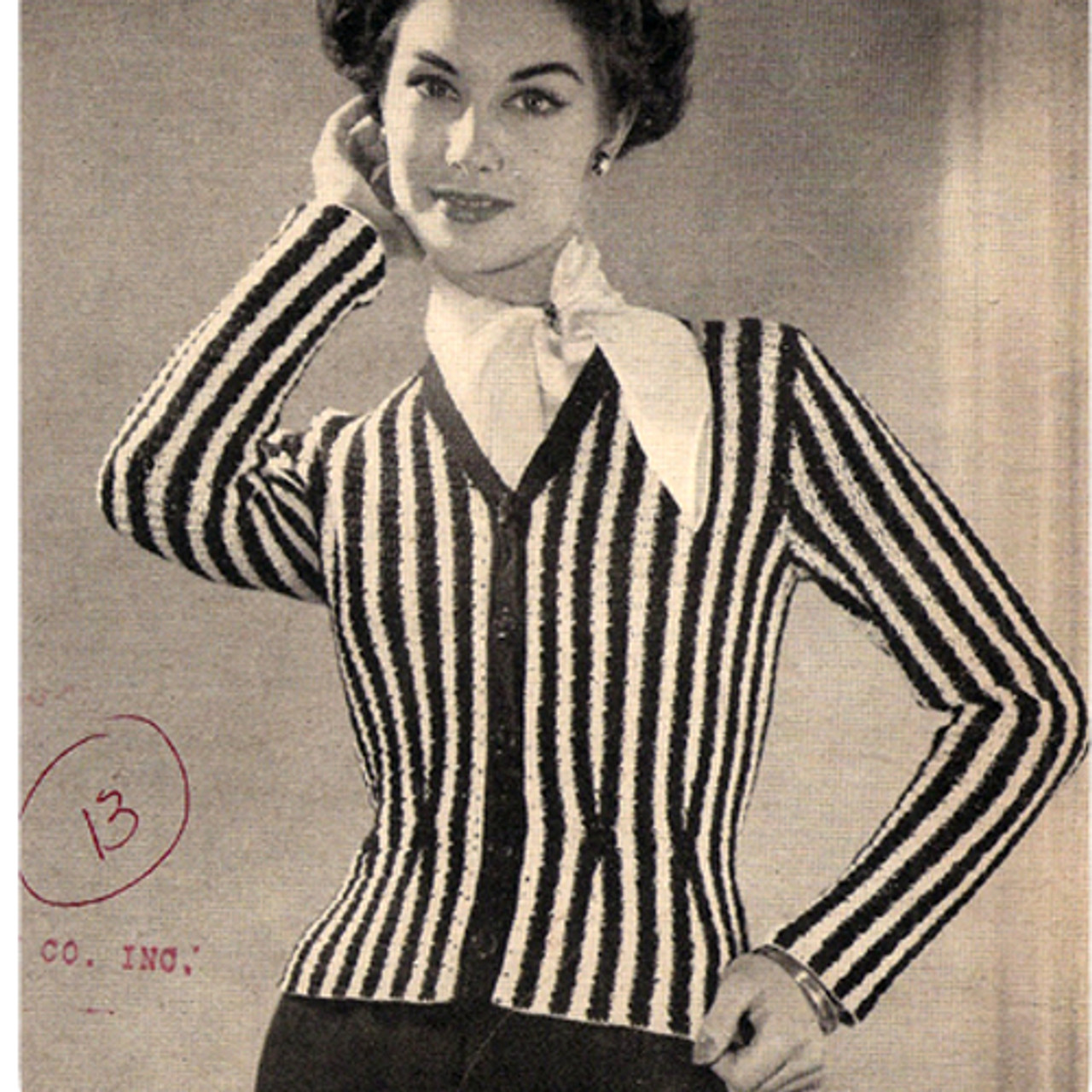 Vintage Striped Cardigan Crochet Pattern
