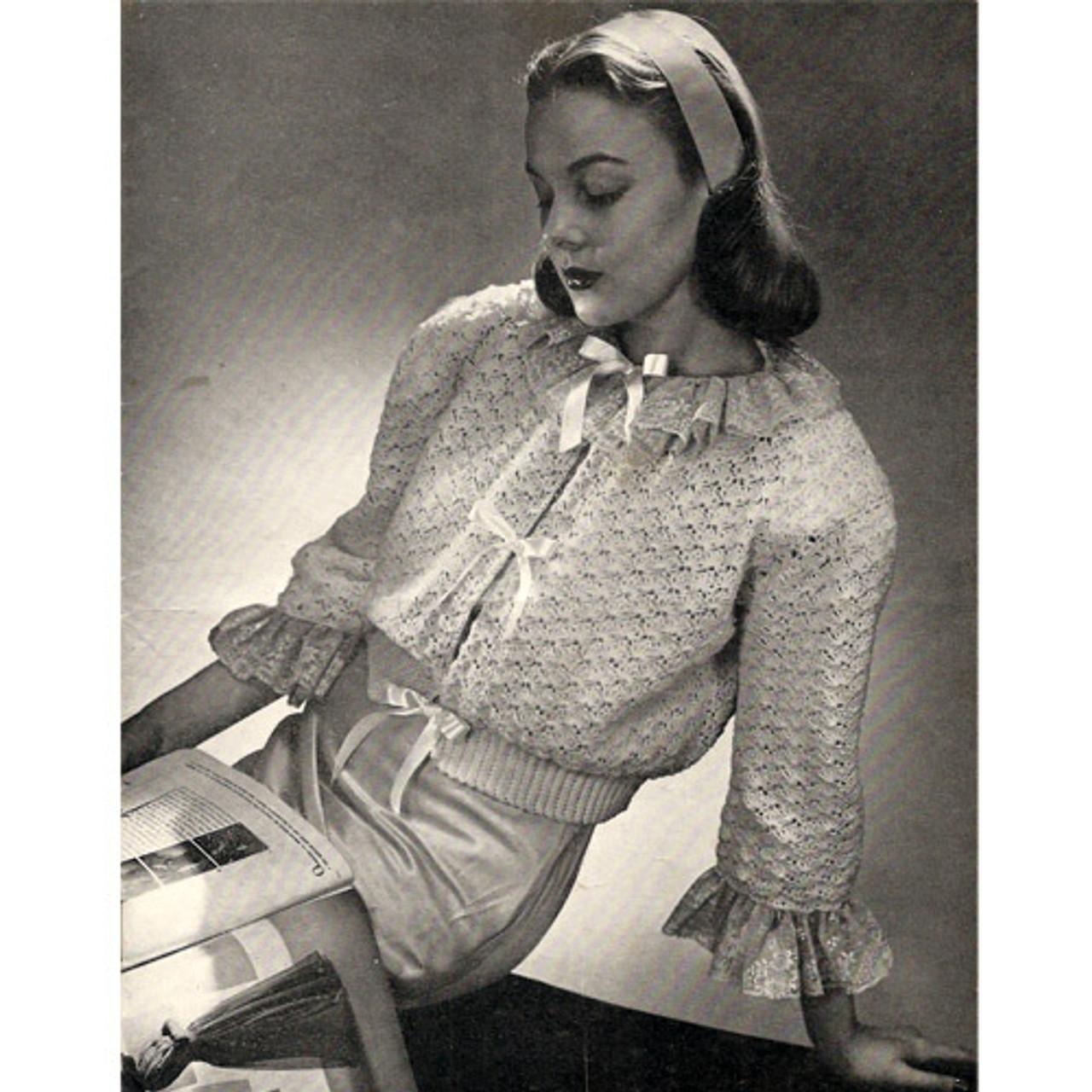 Vintage Crochet Bed Jacket pattern