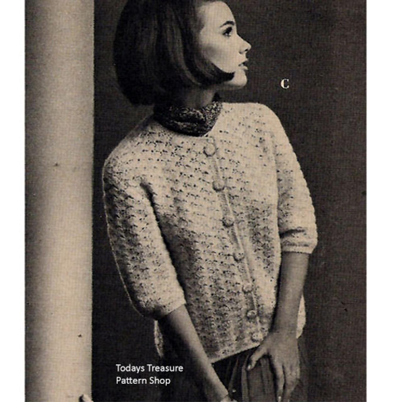 Elbow Sleeved Crochet Cardigan Pattern