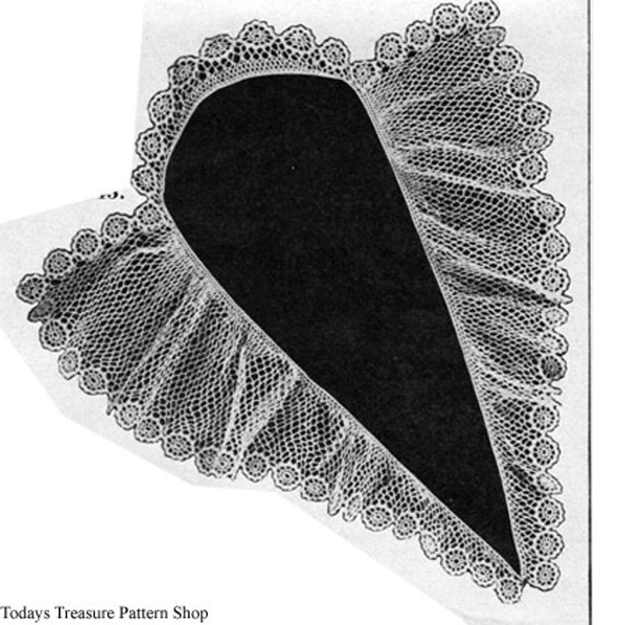 Rose Border Crochet Collar Pattern