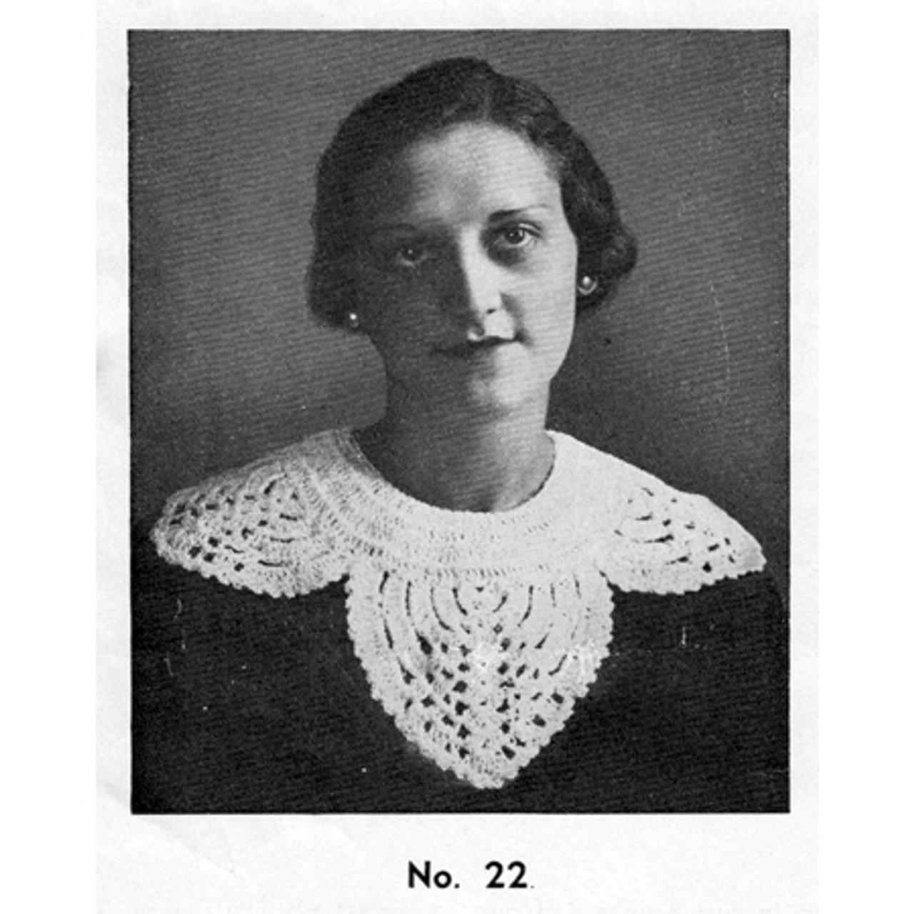 Vintage Petal Collar Crochet Pattern, Large Scallops