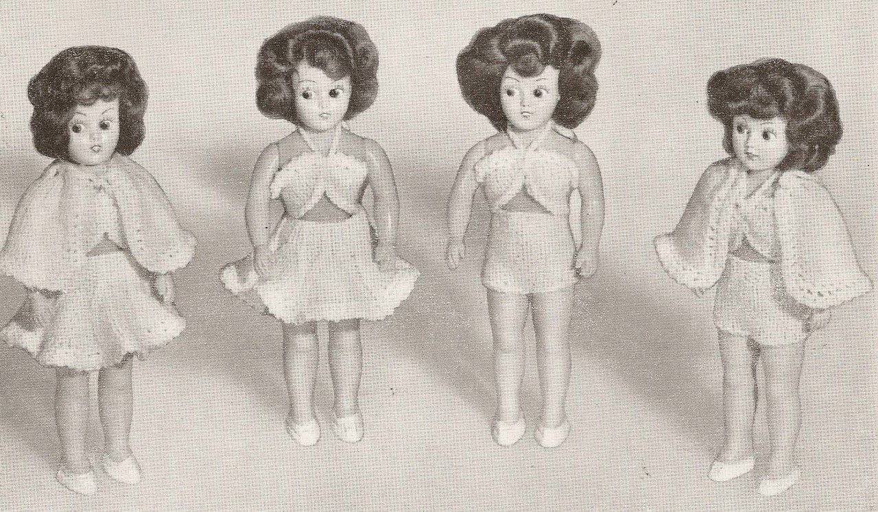 Doreen 104 Knit Crochet Dresses for 8 inch Doll.