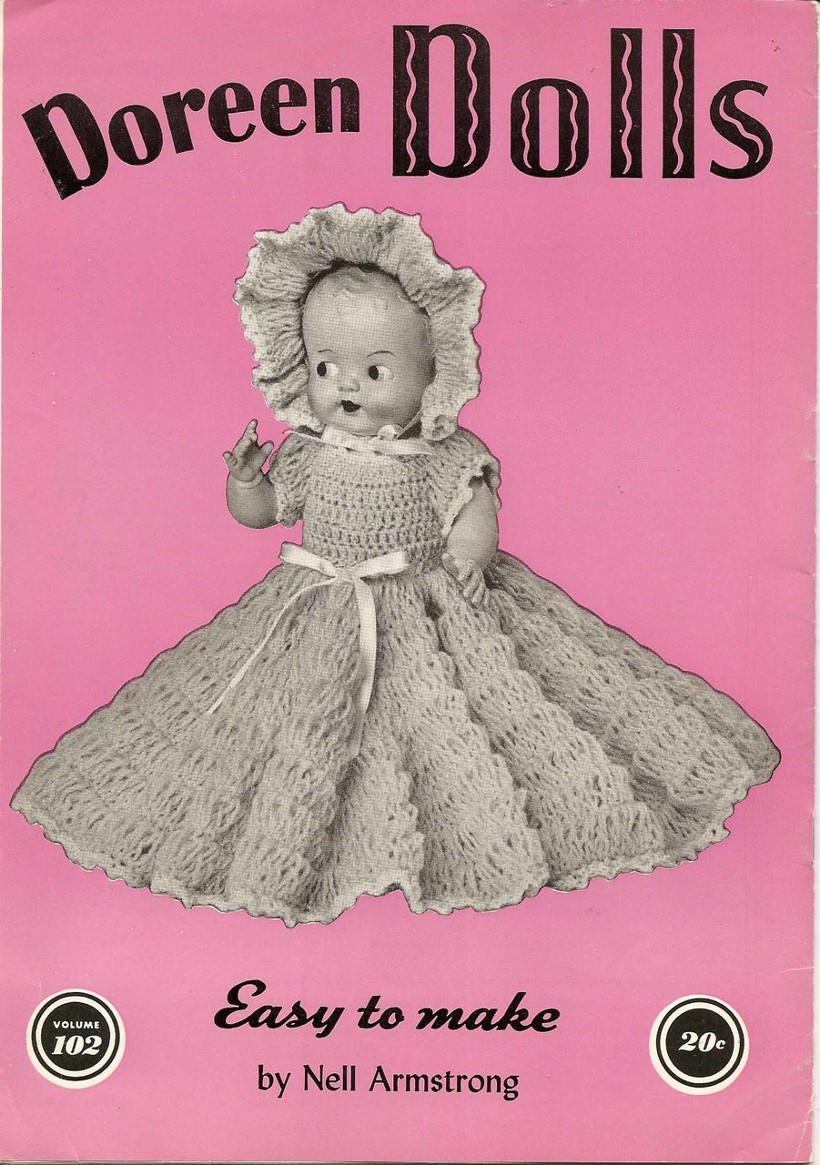 Doreen Dolls Crocheted Dresses Outfits Pattern Book Vol 102