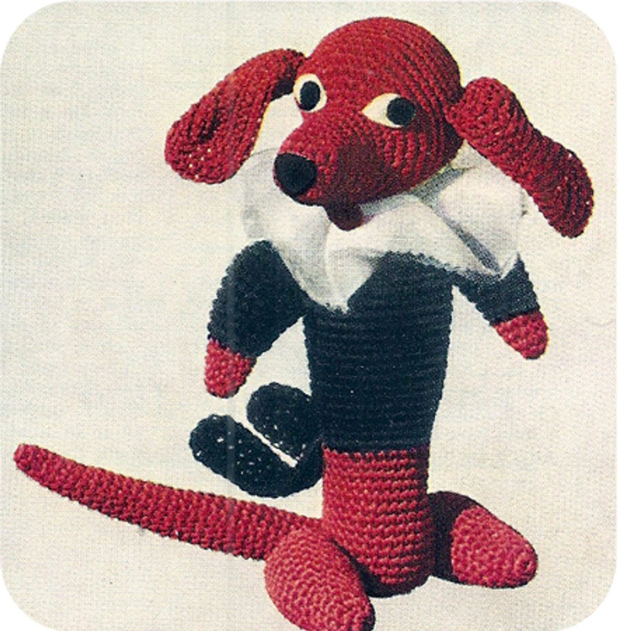 Stuffed Duchshund Crochet Dog Pattern