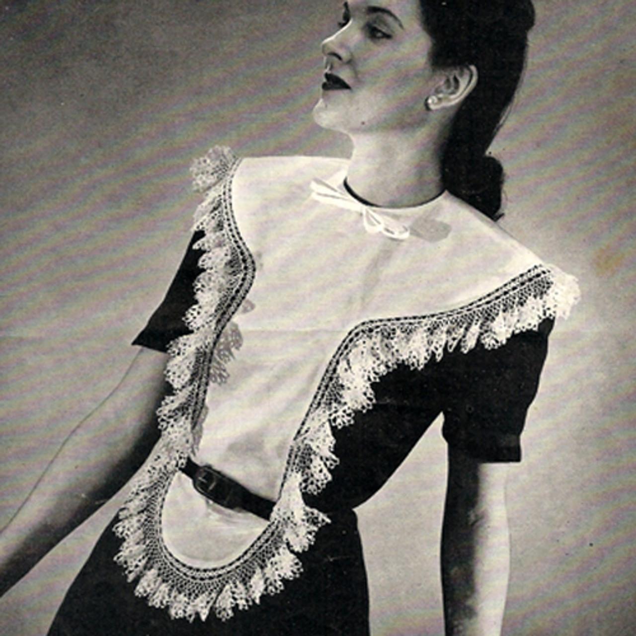 Free Crochet Collar Dickey Edgings Pattern