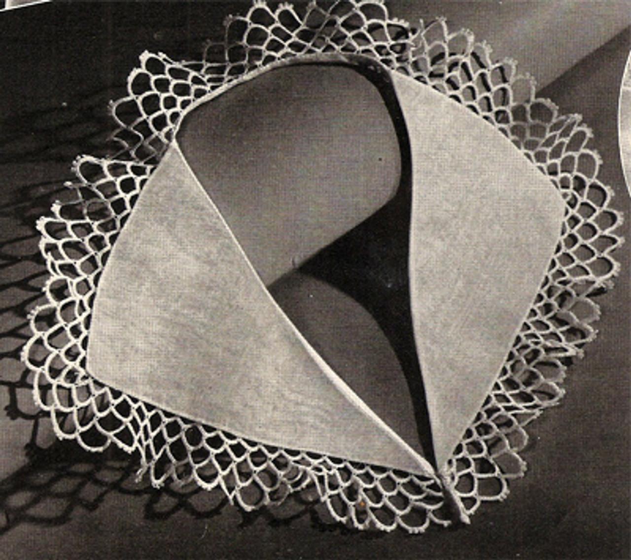 Vintage Crochet Collar Edging Pattern