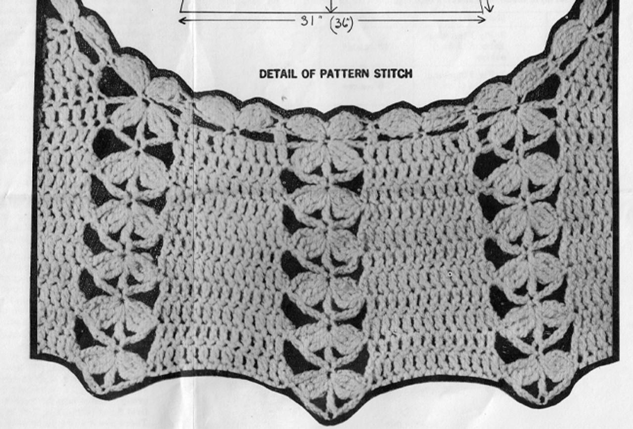 Crochet Dress Shell Pattern Stitch Ilustration