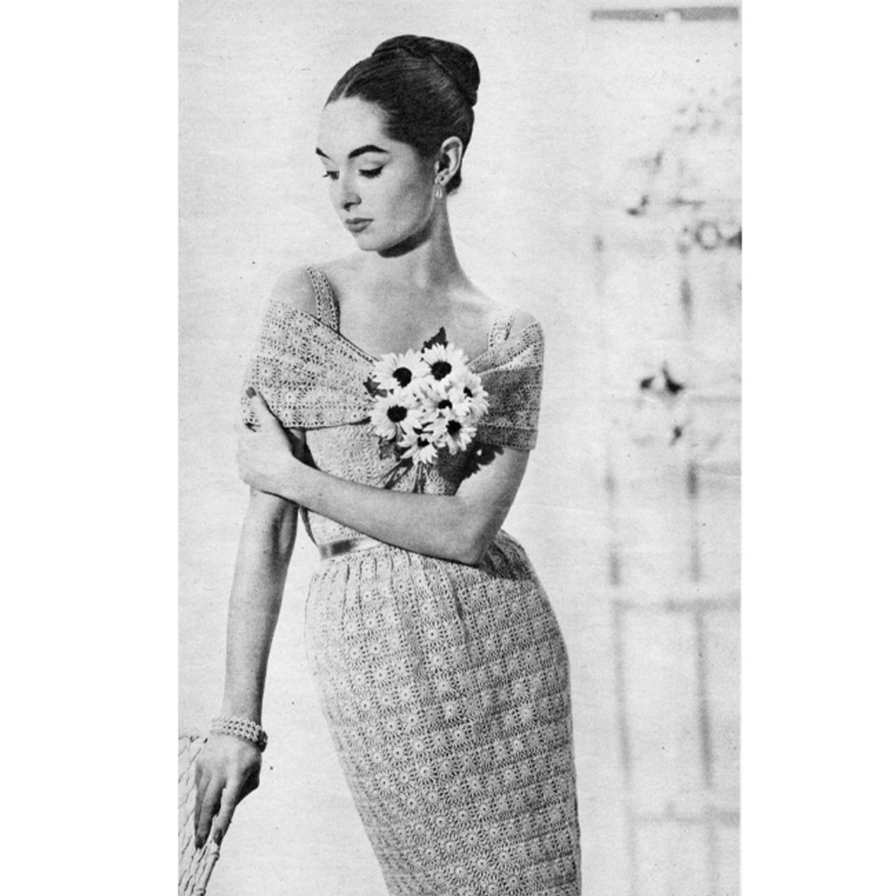 Crochet Strap Dress Pattern with Stole