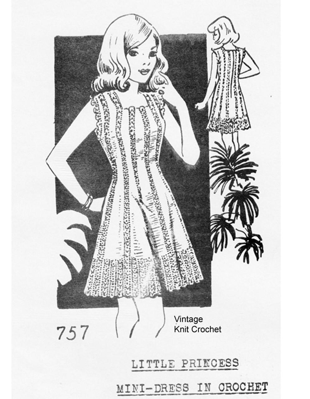 Martha Madison 757, Crochet Dress Pattern