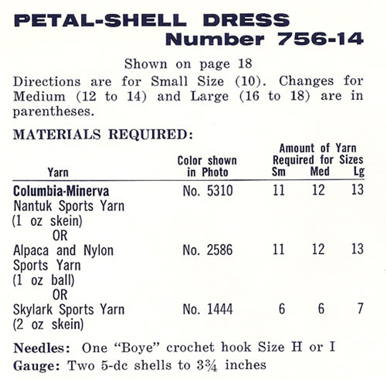 Material Requirements for Shell Stitched Dress