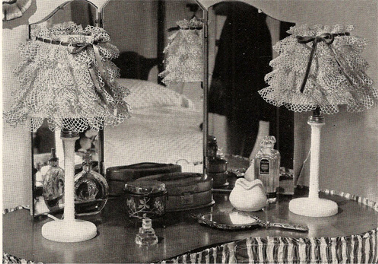 Vintage Crocheted Lamp Shades Pattern
