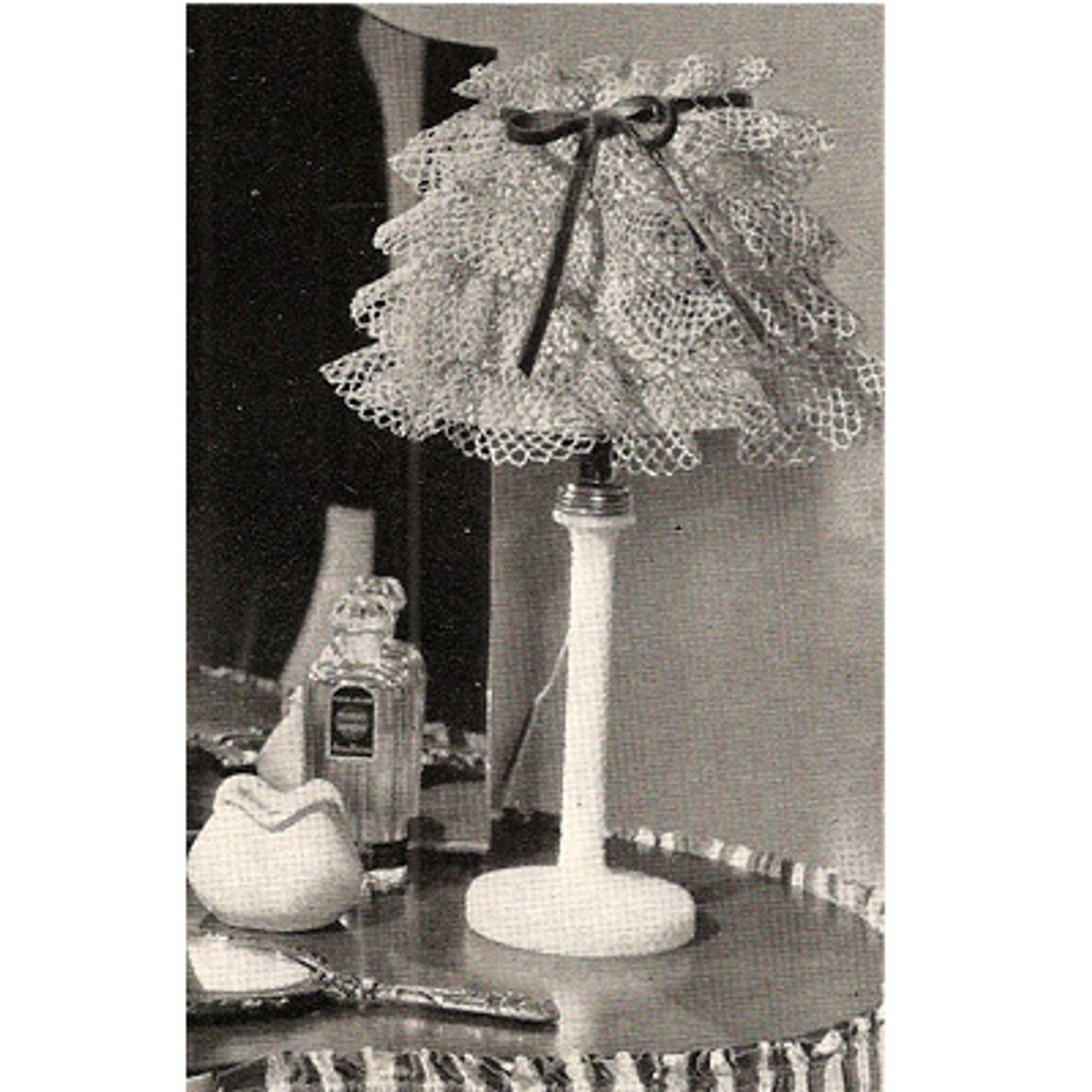 Ruffled Lace Crochet Lamp Shade Pattern