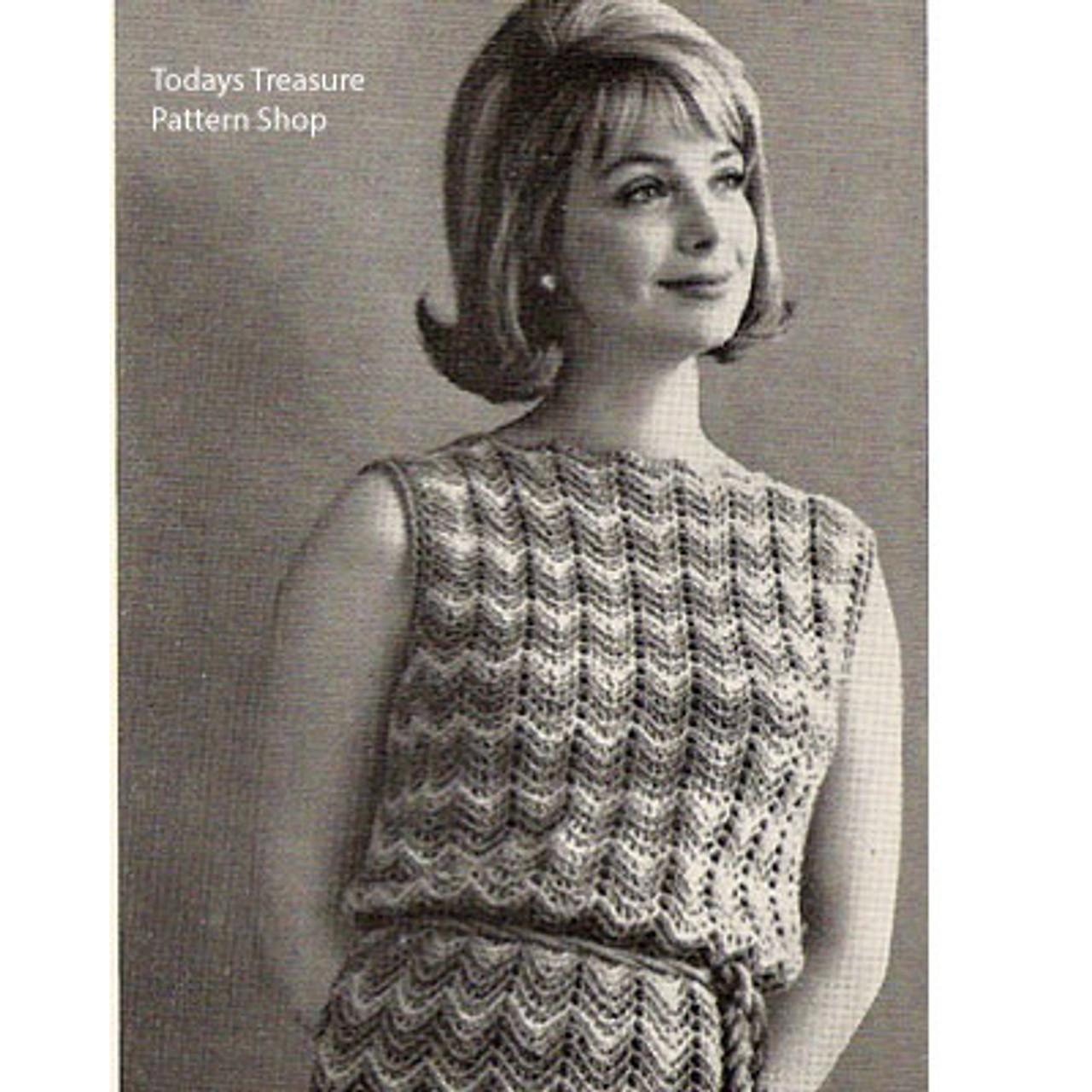 Sleeveless Ripple Dress Crochet Pattern