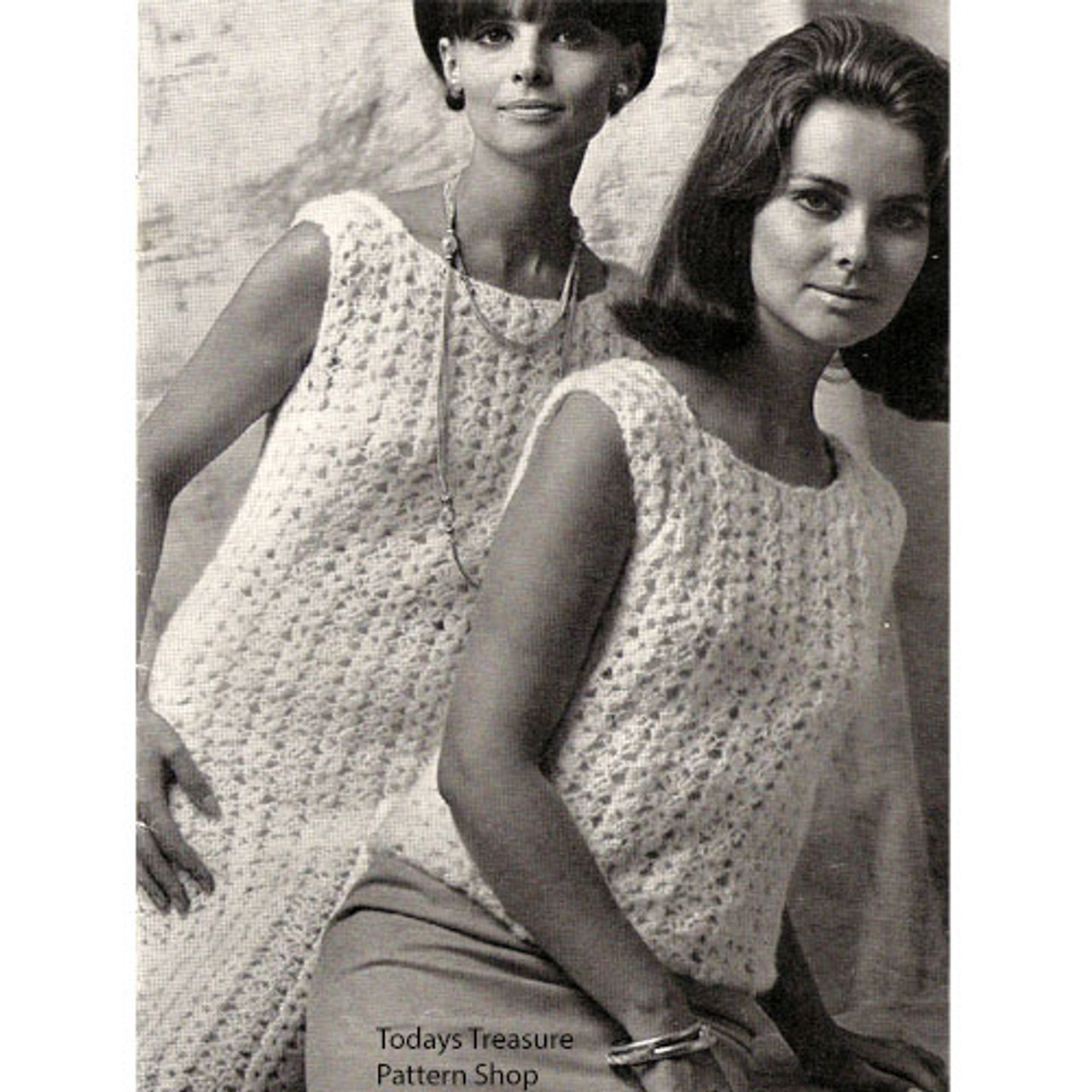 Shell Crocheted Straight Dress Pattern