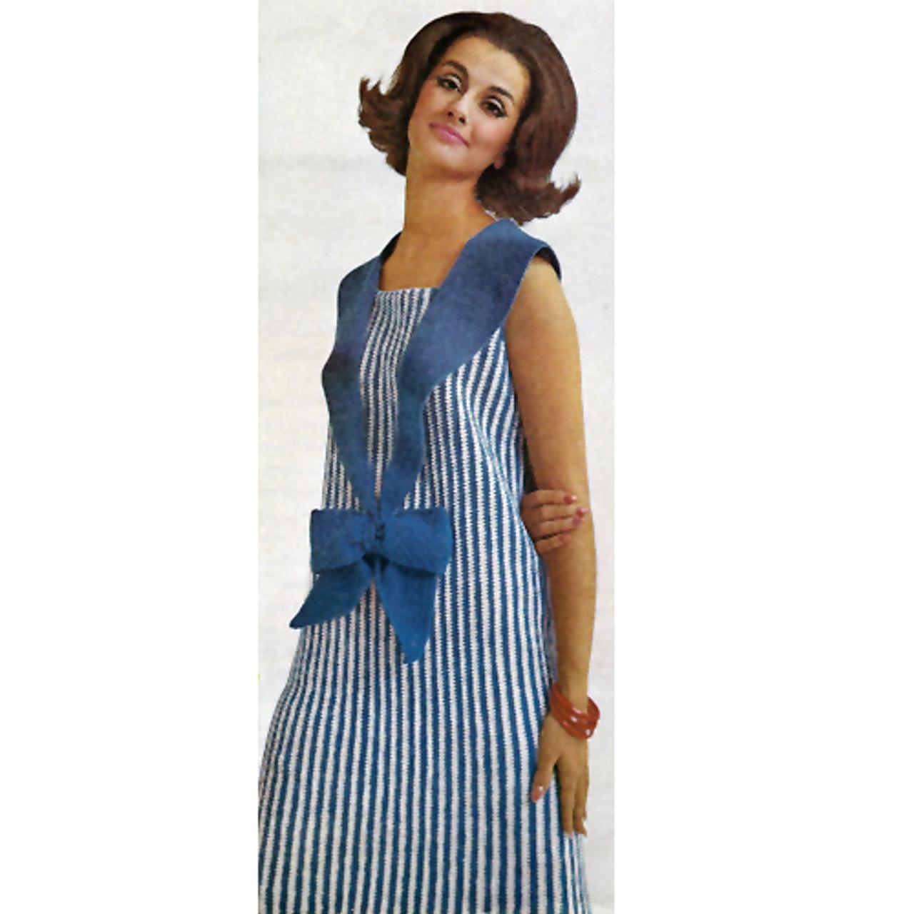 Crochet Striped Dress Pattern, Sleeveless