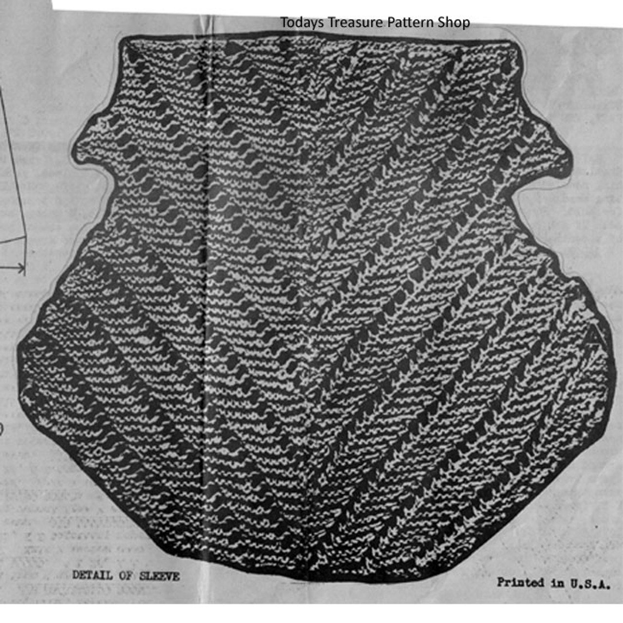 Sleeve Knitted Pattern Stitch Detail