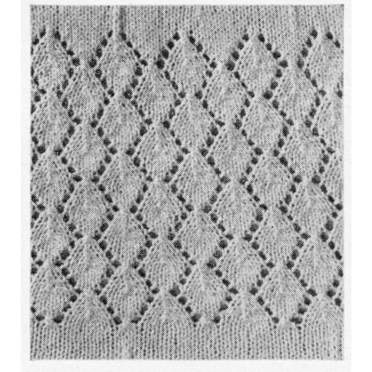 Lace Dress Pattern Stitch Illustration