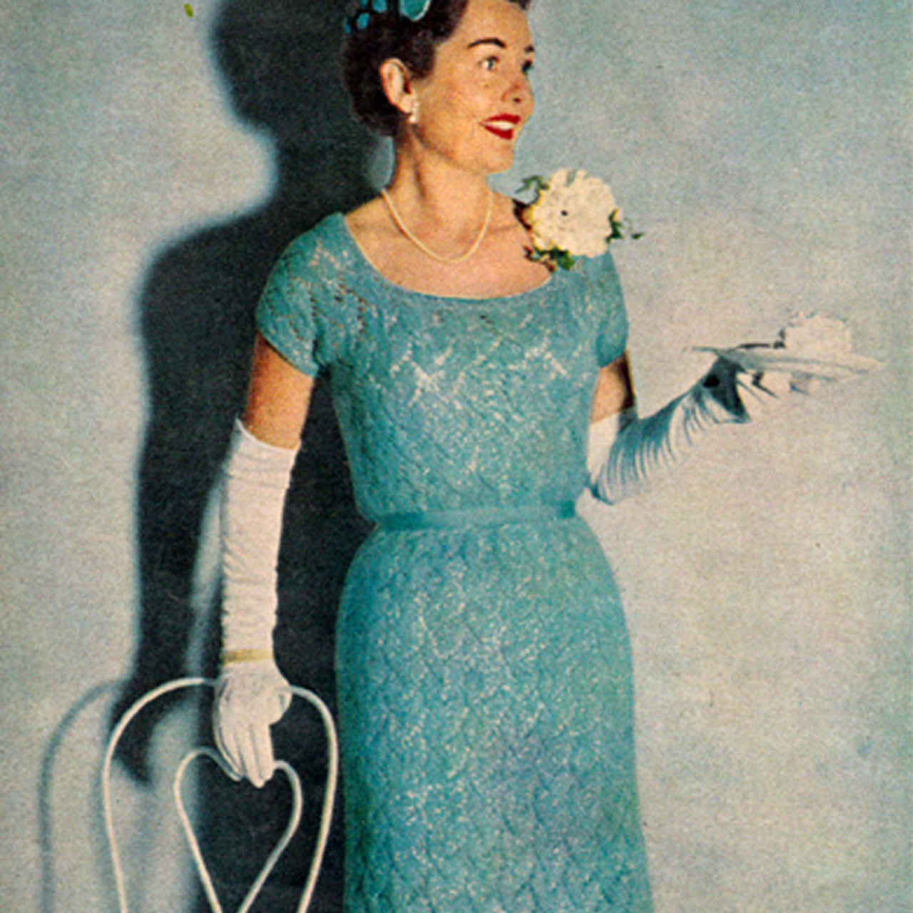 Knitted Lace Evening Dress Pattern