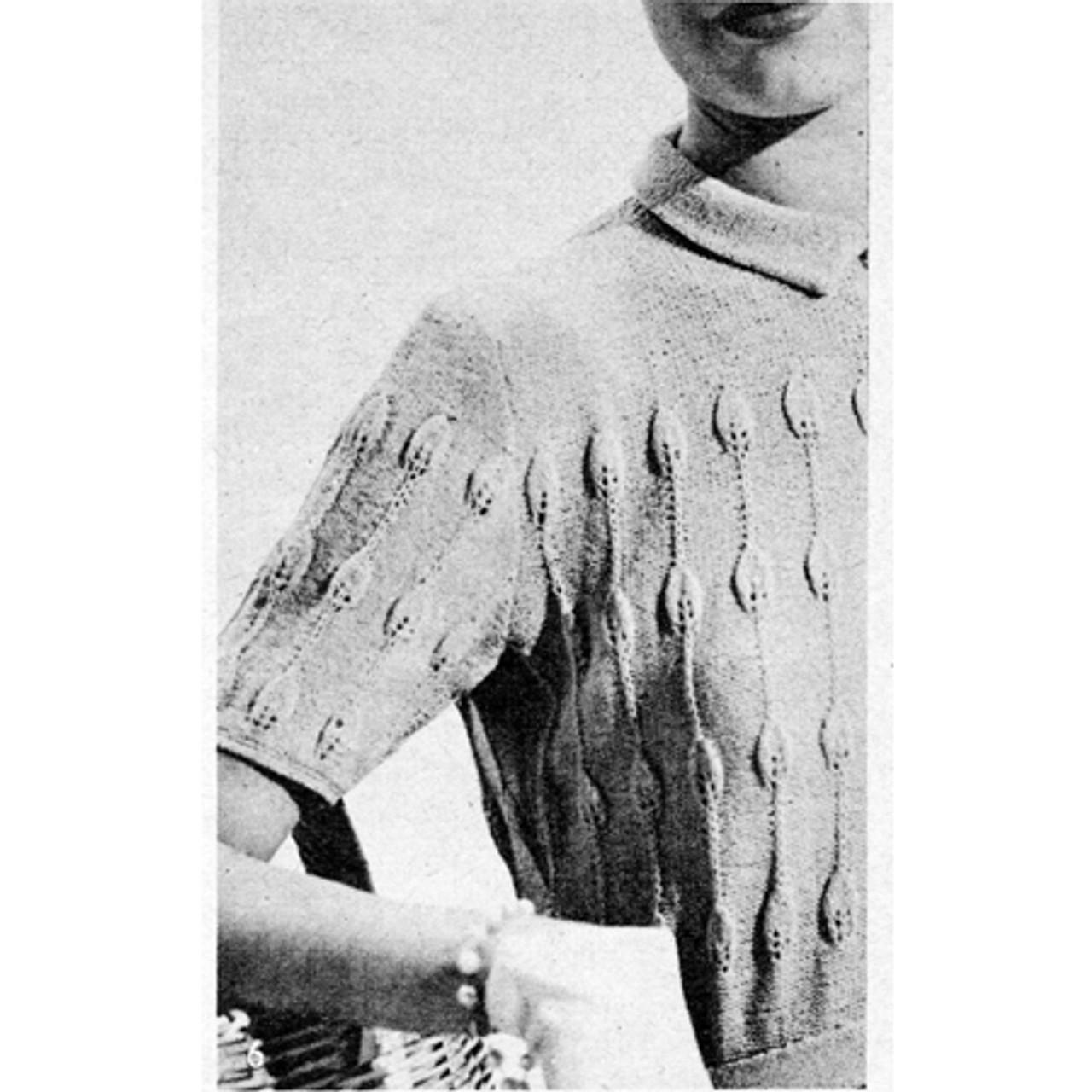 Vintage Knitted Shirtwaist Dress Pattern