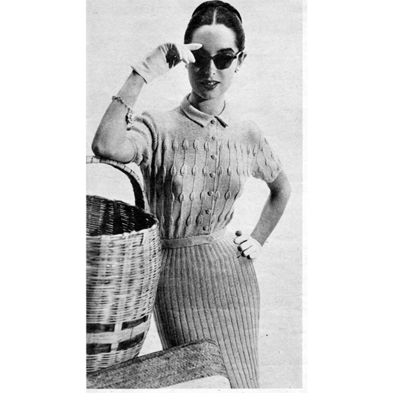 Knitting Pattern Ribbed Shirtwaist Dress