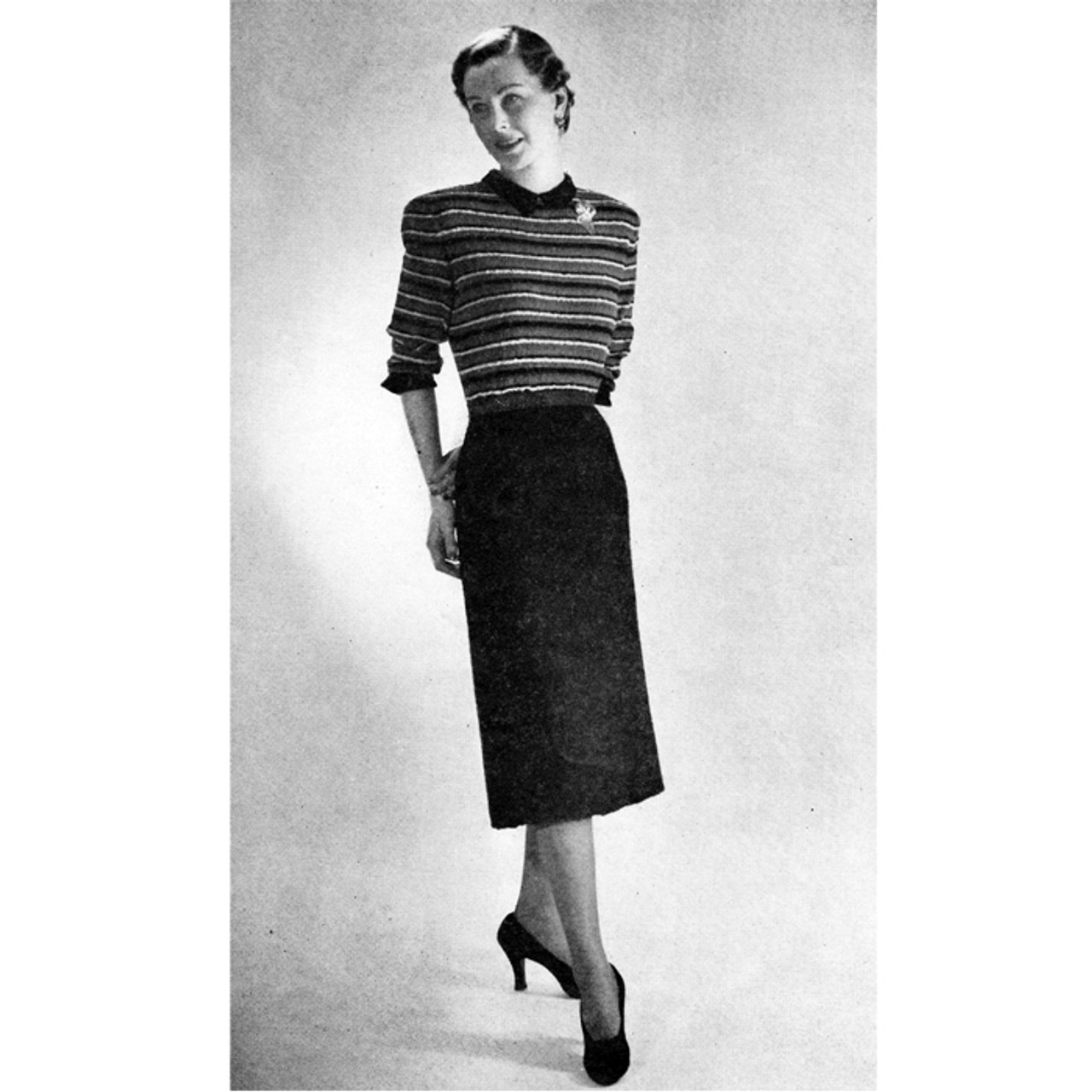 Knitting Pattern Striped Bodice Dress