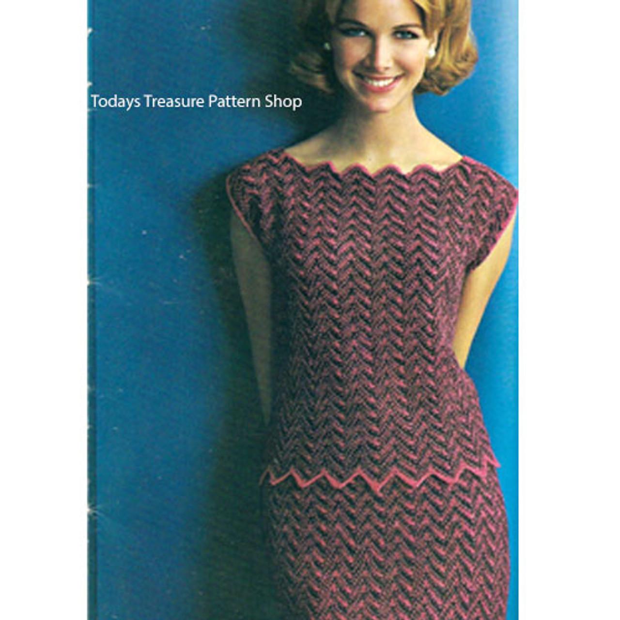 Ripple Two Piece Dress Knitting Pattern