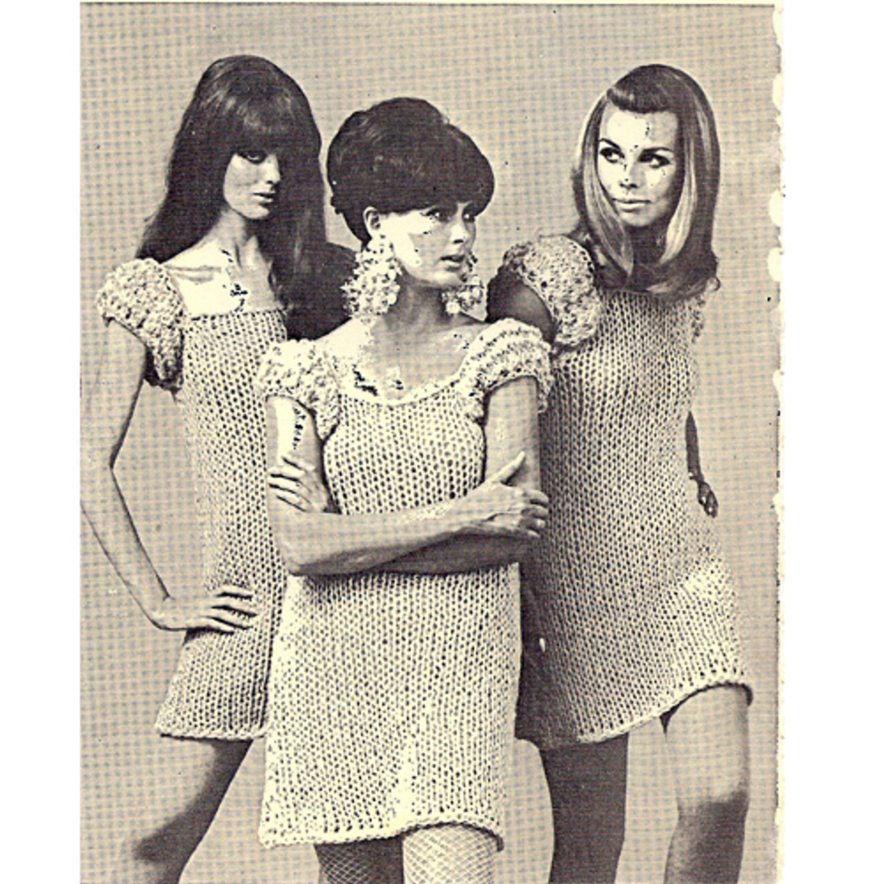 Big Needle Dress Knitting Pattern, Vintage 1960s