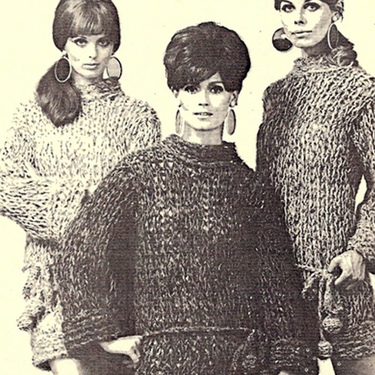 Jumbo Jets Knitted Mini Dress pattern, vintage 1960s